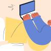 parent on a laptop for online parent coaching