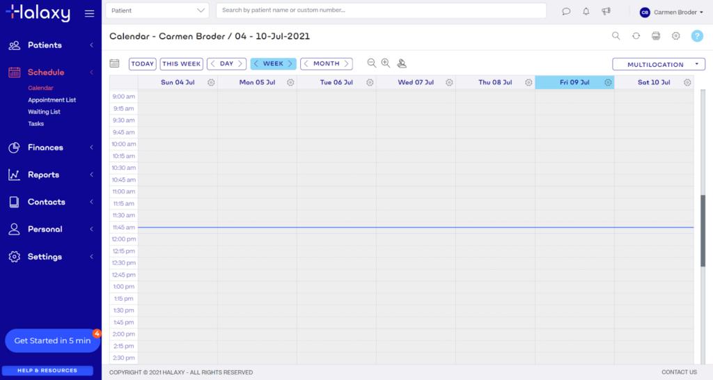 Halaxy Practise Management Software Screenshot