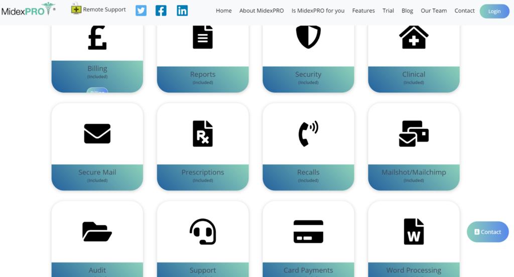 MidexPRO Practise Management Software Screenshot
