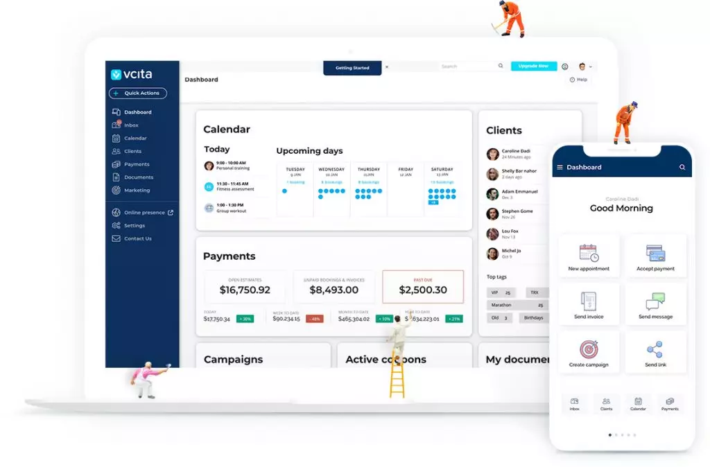 Vcita Practise Management Software Screenshot